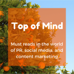 Top of Mind: 360-degree Video, Social Media Myths, and Pizza Drones