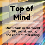 Top of Mind: Social Media Analytics, Entrepreneurs, and Millennials