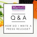 Q&A: How Do I Write a Press Release?