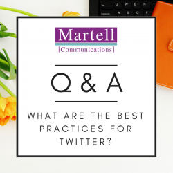 what are the best practices for twitter martellpr